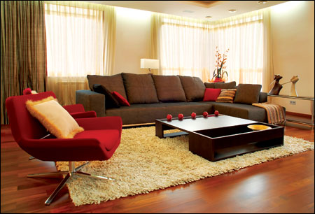 Thảm trải phòng khách hiện đại